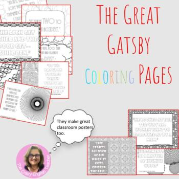 The Great Gatsby Coloring Pages: Mini Posters
