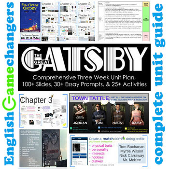 The Great Gatsby: Complete 3 Week Unit w/ Presentations & 25+ Activities