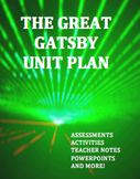 The Great Gatsby: Complete Unit Plan Bundle