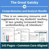 The Great Gatsby - Comprehension and Analysis Bundle