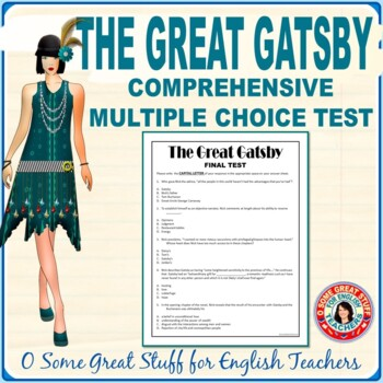THE GREAT GATSBY Final Comprehensive Multiple Choice Test with Key