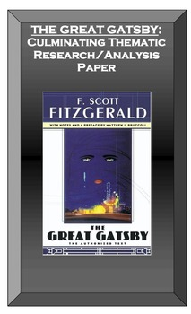 The Great Gatsby Culminating Research Paper