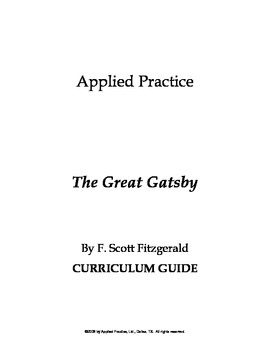 The Great Gatsby Curriculum Guide by Applied Practice