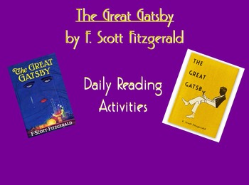 The Great Gatsby Daily Reading Activities