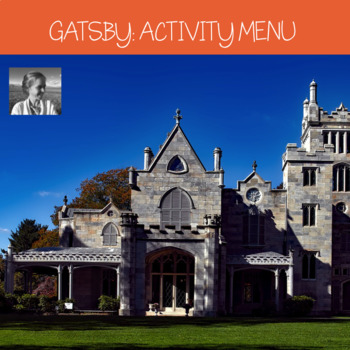 The Great Gatsby Differentiated Activity Menu