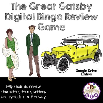 The Great Gatsby Digital Bingo Review Game (Google Drive Edition)