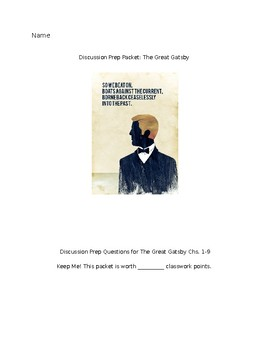 The Great Gatsby Discussion Packet