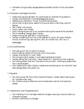The Great Gatsby Discussion Questions and Detailed Answer Key