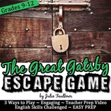Escape Game Break Out Lock Box Activity, The Great Gatsby