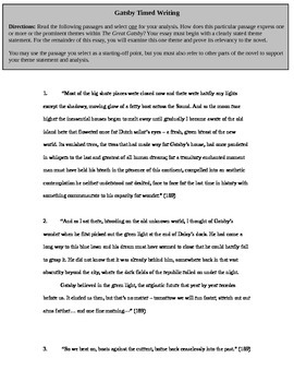 the great gatsby essay prompts