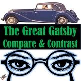 The Great Gatsby Compare and Contrast Writing Unit