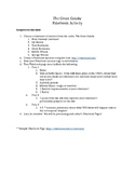 The Great Gatsby Fakebook Activity Project Instructions & Rubric