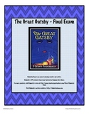 The Great Gatsby Final Exam Test