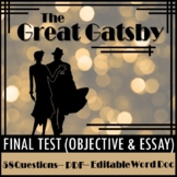The Great Gatsby Final Test