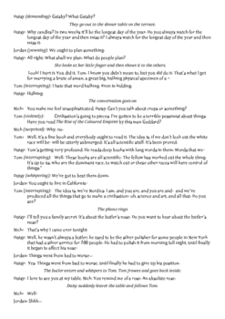 The Great Gatsby First Scene re-written as a play