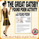 THE GREAT GATSBY FOUND POEM ACTIVITY Creative Approach to Imagery!
