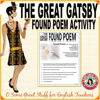 The Great Gatsby Found Poem Activity