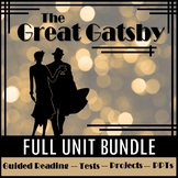Distance Learning: The Great Gatsby Unit Bundle