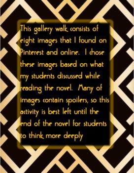 The Great Gatsby: Gallery Walk
