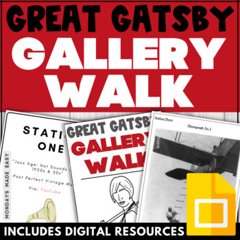 The Great Gatsby INTERACTIVE GALLERY WALK | Introductory Lesson to Novel