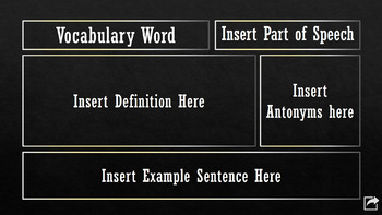 The Great Gatsby Digital Interactive Vocabulary Flashcard Template