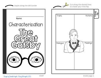 THE GREAT GATSBY: INTERACTIVE NOTEBOOK CHARACTERIZATION MINI FLIP