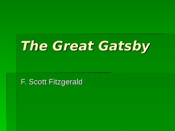 The Great Gatsby Introduction Powerpoint