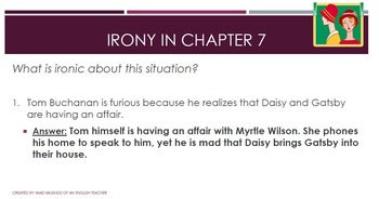 The Great Gatsby: Irony in Chapter 7