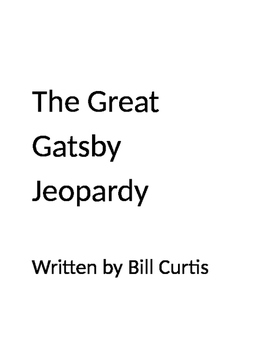 The Great Gatsby Jeopardy
