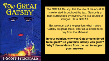 The Great Gatsby Journal Prompt Pack