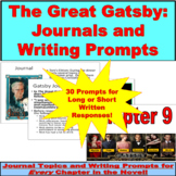 The Great Gatsby Journals and Writing Prompts PowerPoint f