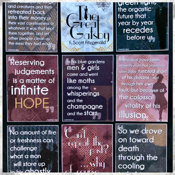 The Great Gatsby: Key Quotes POSTERS