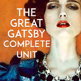 The Great Gatsby Unit | The Great Gatsby Pre-Reading Activities to Unit Test