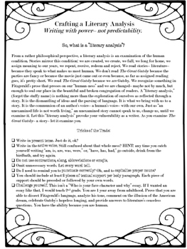 The Great Gatsby Literary Analysis Essay Guide