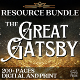 The Great Gatsby Literature Guide: Teaching Guide PACKET | DISTANCE LEARNING