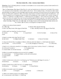 The Great Gatsby MSL/Final Exam/Common Exam - PRACTICE