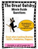 The Great Gatsby Movie Guide Questions