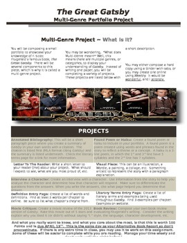 The Great Gatsby Multi-Genre Project