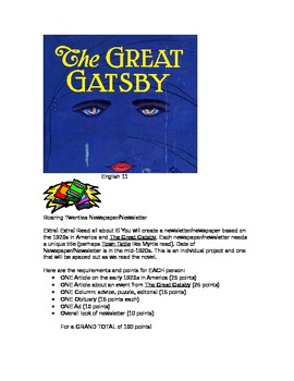The Great Gatsby Newspaper