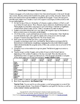Literature - The Great Gatsby Newspaper Project