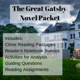 The Great Gatsby Novel Packet