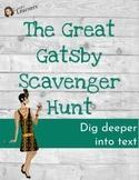 The Great Gatsby Novel Scavenger Hunt