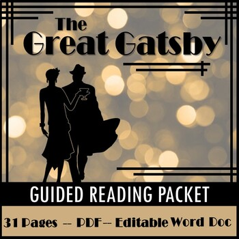 The Great Gatsby Unit Packet