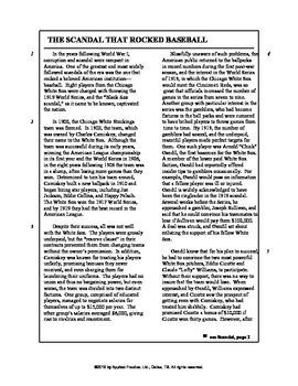 The Great Gatsby Paired Passage English skills worksheet b