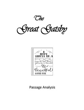 The Great Gatsby Passage Analysis and Expository Writing Assignment