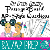 The Great Gatsby Passage-Based AP SAT Style Questions for