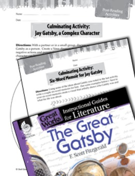 The Great Gatsby Post-Reading Activities