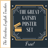 The Great Gatsby Classroom Poster Set- 10 Posters included!