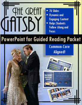 The Great Gatsby Unit PowerPoint for Guided Reading Packet