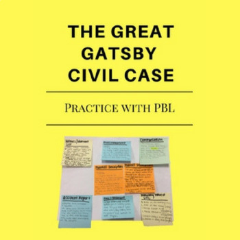 The Great Gatsby- Practice with PBL Group Wrongful Death Lawsuit
